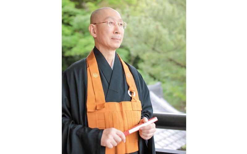 横浜市・建功寺の禅僧、枡野俊明さん。